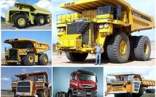 ТОП 6 самых больших грузовых машин в мире
