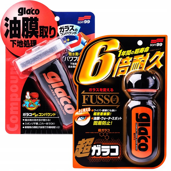 Ultra Glaco + Glaco Glass Compound Roll On