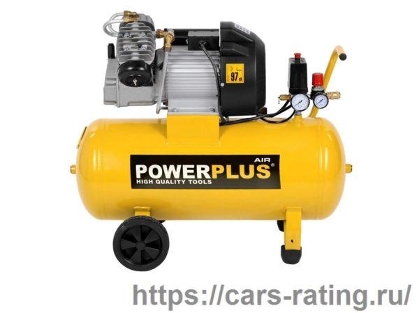 Powerplus 2л.с. 50-литровый воздушный компрессор