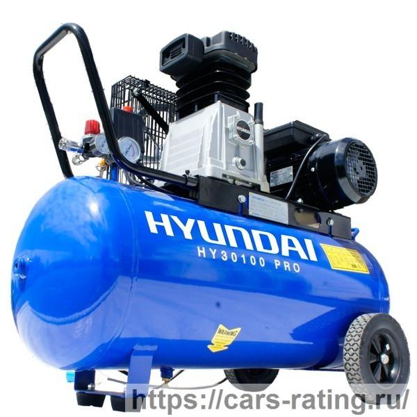 Hyundai 3hp 100-литровый воздушный компрессор